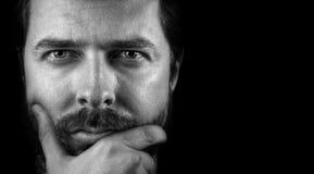 Cara del hombre confidente inteligente hermoso Foto de archivo libre de regalías