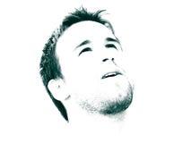 Cara del hombre de Highkey Fotografía de archivo libre de regalías