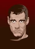 Cara del hombre Imitación del estilo del cómic Vector Imagen de archivo