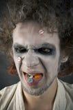Cara del hombre loco Imagenes de archivo