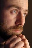 Cara del hombre triste Imagenes de archivo