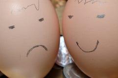Cara del huevo Fotografía de archivo libre de regalías