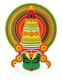 cara del kathakali stock de ilustración