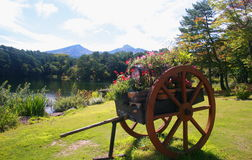 Cara del lago de Urabandai Fotos de archivo