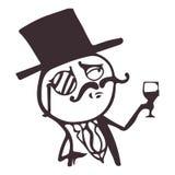 Cara del meme del individuo del vector para cualquier diseño EPS aislado 10 Fotografía de archivo