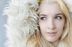 Cara del modelo de moda de la mujer joven Imagen de archivo libre de regalías