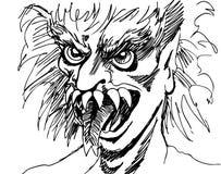 Cara del monstruo Imagen de archivo libre de regalías