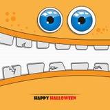 Cara del monstruo de Halloween Fotografía de archivo libre de regalías