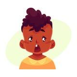 Cara del niño pequeño, expresión facial sorprendida Fotos de archivo libres de regalías