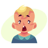 Cara del niño pequeño, expresión facial sorprendida Fotografía de archivo libre de regalías