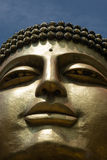 Cara del oro de la estatua del budha en Corea del Sur Fotografía de archivo libre de regalías