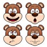 Cara del oso de la historieta Foto de archivo libre de regalías