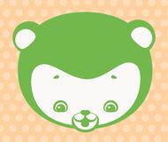 Cara del oso divertido ilustración del vector