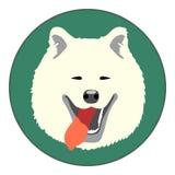 Cara del perro del samoyedo del vector de Digitaces libre illustration