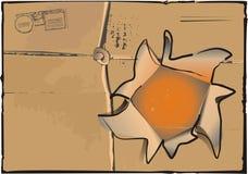 Cara del rectángulo con el agujero Fotos de archivo