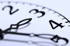 Cara del reloj fotos de archivo