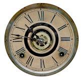 Cara del reloj de abuelo antiguo Imagen de archivo