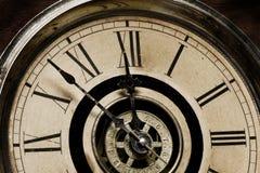 Cara del reloj de abuelo viejo Imágenes de archivo libres de regalías