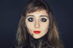 Cara del ` s de la chica joven con maquillaje brillante Imagen de archivo libre de regalías