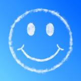 Cara del smiley de la nube Fotos de archivo