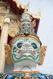 Cara del soporte gigante alrededor de la pagoda de Tailandia Fotografía de archivo libre de regalías