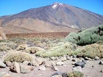 Cara del sur de la visión del teide Tenerife del volcán Imagen de archivo
