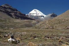 Cara del sur del monte Kailash sagrado Imagen de archivo libre de regalías