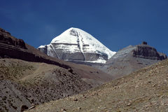 Cara del sur del monte Kailash sagrado Imagenes de archivo