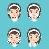 Cara del tratamiento del espray de la niña libre illustration