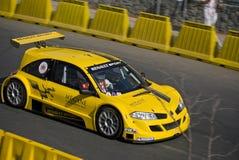 Cara del trofeo de Renault Megane encendido fotos de archivo