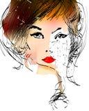 Cara del vector de la muchacha Imágenes de archivo libres de regalías