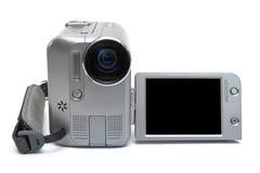 Cara del videocámera de MiniDV nosotros en el fondo blanco Imagenes de archivo