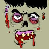 Cara del zombi de la historieta ilustración del vector