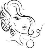 Cara denominada da menina ilustração royalty free