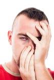 Cara deprimida Fotos de Stock