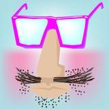 Cara divertida con los vidrios Foto de archivo libre de regalías