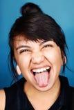 Cara divertida de la mujer Fotos de archivo libres de regalías