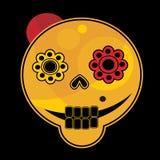 Cara divertida del cráneo. Imagenes de archivo