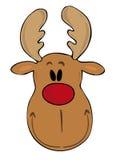 Cara divertida del reno. Fotos de archivo libres de regalías