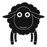Cara do ícone dos carneiros, estilo simples ilustração royalty free