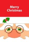 Cara do cartão de Santa Imagens de Stock Royalty Free