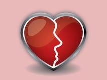 Cara do coração Imagem de Stock