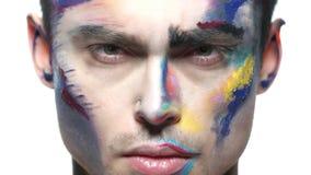 Cara do homem, arte da composição video estoque
