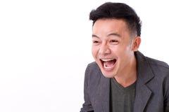 A cara do homem que ri com espaço vazio para o texto ou a cópia fotografia de stock royalty free