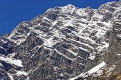 Cara do leste do maciço nevado de Watzmann Foto de Stock