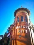 A cara do mercado do feno, cidade de Sydney China Tem conhecido como o shopping icônico de Sydney e o mercado famoso da almofada Foto de Stock