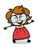 Cara do riso - ilustração inteligente do vetor da menina dos desenhos animados do adolescente ilustração do vetor