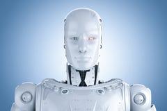 Cara do robô do Humanoid ilustração stock