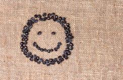 Cara do smiley do café Fotos de Stock