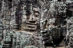 Cara do templo de Bayon fotografia de stock royalty free